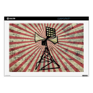 Siren radio tower laptop decal