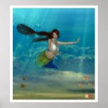 Sirena adolescente impresiones