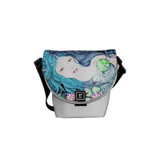 Sirena azul bolsa messenger