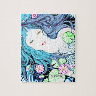 Sirena azul rompecabezas