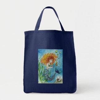 Sirena - bolso del Seahorse Bolsa Tela Para La Compra