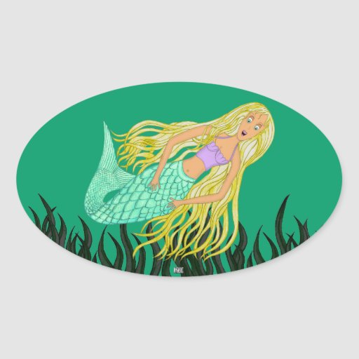 Sirena Colcomanias De Ovaladas