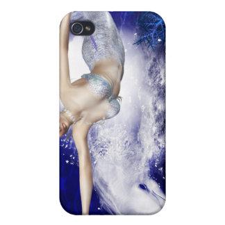 Sirena con el caso del iPhone 4 del delfín iPhone 4 Protector