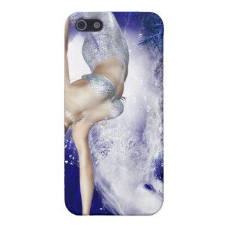 Sirena con el caso del iPhone 4 del delfín iPhone 5 Protector