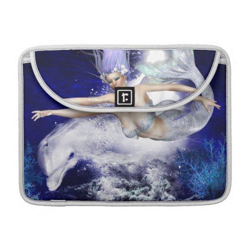 """Sirena con el delfín 13"""" manga de MacBook Funda Para Macbook Pro"""