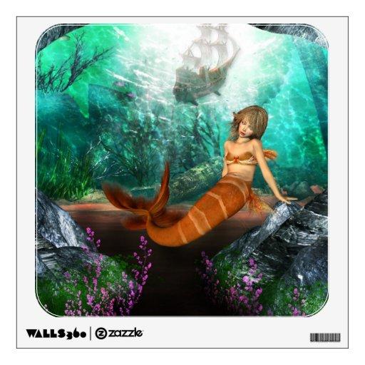 Sirena con el naufragio