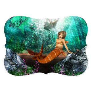 """Sirena con el naufragio invitación 5"""" x 7"""""""