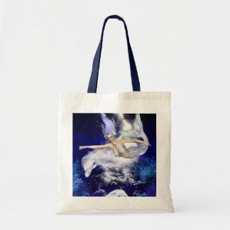 Sirena con el pequeño bolso del delfín bolsa tela barata