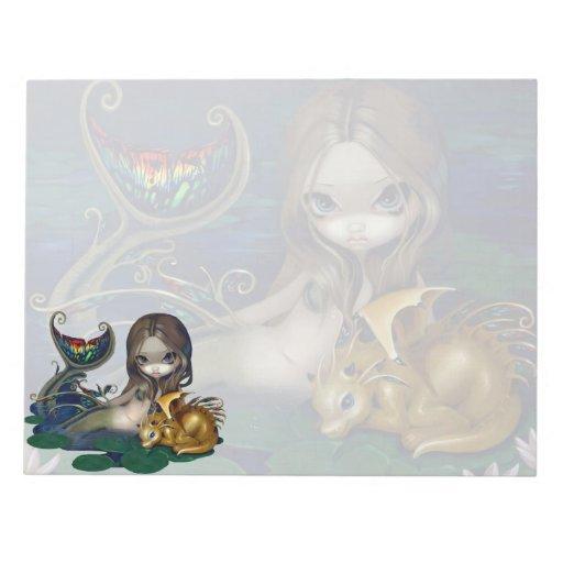 """""""Sirena con la libreta de un dragón de oro"""" Bloc"""
