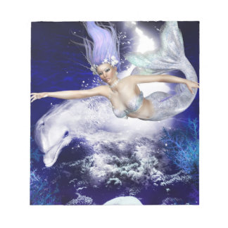 Sirena con la libreta del delfín libreta para notas