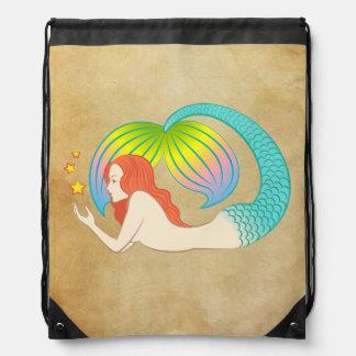 Sirena con las estrellas flotantes mochilas