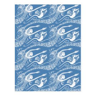 Sirena con las perlas y el Seahorse Postales