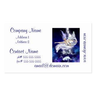 Sirena con las tarjetas de visita del delfín