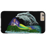 Sirena con los delfínes funda de iPhone 6 plus barely there