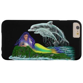 Sirena con los delfínes funda para iPhone 6 plus barely there