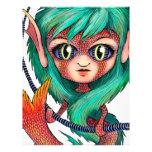 Sirena con los ojos grandes plantilla de membrete