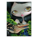 """""""Sirena con tarjeta de felicitación de un cocodril"""