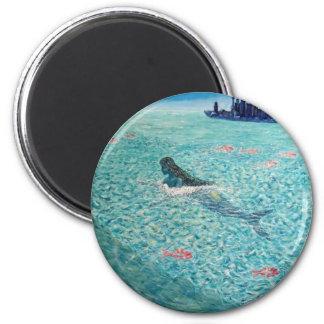 Sirena contra la marea imán redondo 5 cm