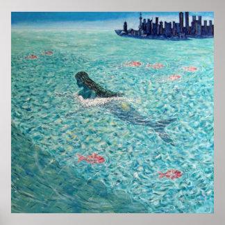 Sirena contra la marea póster