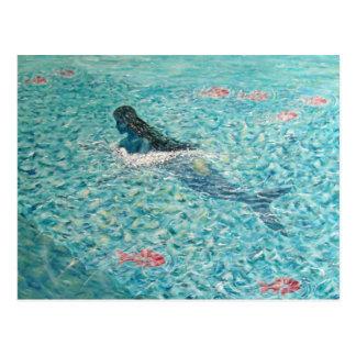 Sirena contra la marea postales