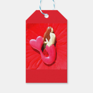 sirena corazón-atada rojo etiquetas para regalos