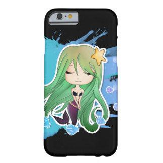 Sirena de Chibi - verde Funda Para iPhone 6 Barely There