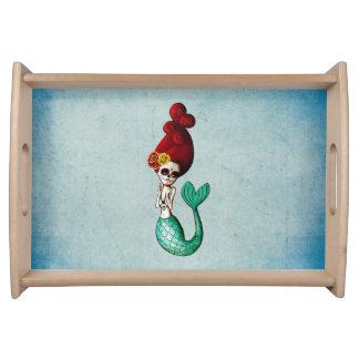 Sirena de Dia de Los Muertos Adorable Bandejas