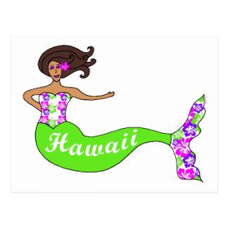 Sirena de Hawaii Tarjeta Postal