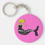 Sirena de Hollywood (rosa) Llavero Personalizado