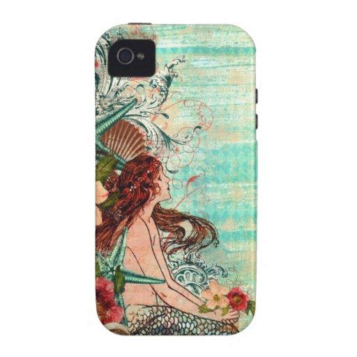 Sirena de la costa del caso del iPhone 4 de B iPhone 4 Funda