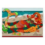 Sirena de la Costa del Pacífico de Debbie Jensen Tarjetón