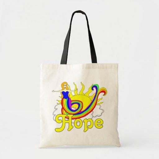 Sirena de la esperanza bolsa tela barata