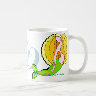 Sirena de la granja del hippy taza