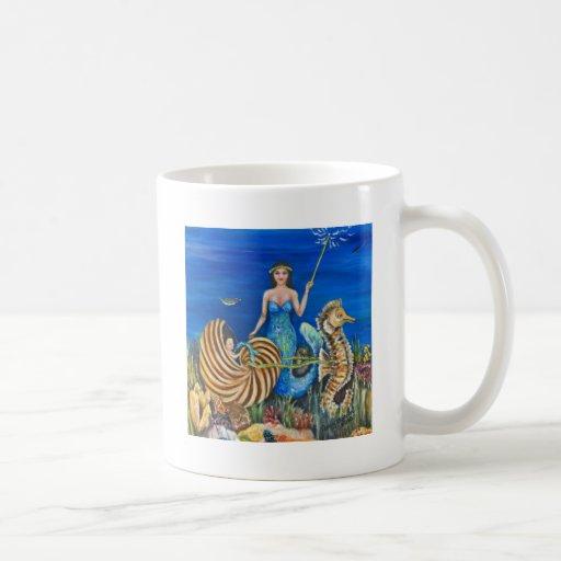 Sirena de la hada madrina tazas
