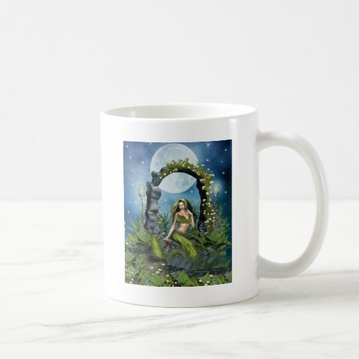 Sirena de la hoja taza de café