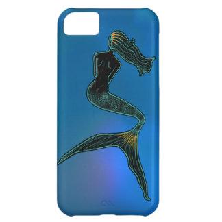 Sirena de la luna (azul coralino) funda para iPhone 5C