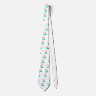 Sirena de las azules turquesas corbata