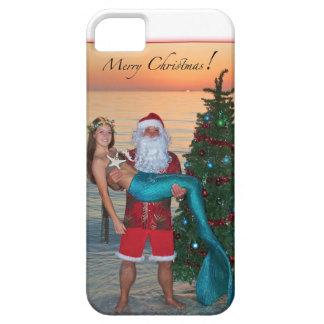 Sirena de las Felices Navidad con Santa en la iPhone 5 Cárcasas