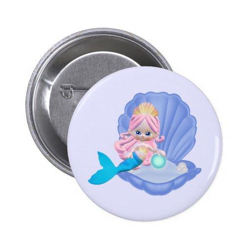 Sirena de Lil Pin Redondo 5 Cm