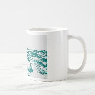 Sirena de niebla azul de Winslow Homer del barco Taza De Café