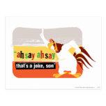 Sirena de niebla que es un chiste, hijo tarjetas postales