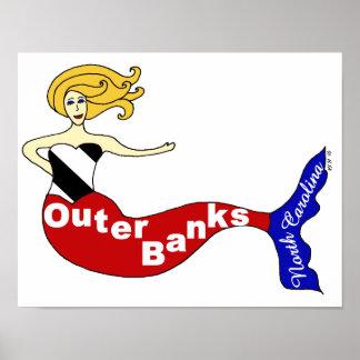 Sirena de Outer Banks Impresiones