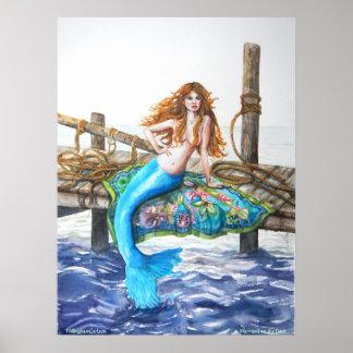 Sirena de PMACarlson en el poster del muelle