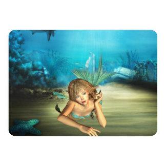 """Sirena de relajación invitación 5"""" x 7"""""""