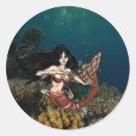 Sirena de Tigerfish por RyuNelo-artz Pegatinas Redondas