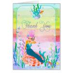 Sirena debajo del mar tarjetas