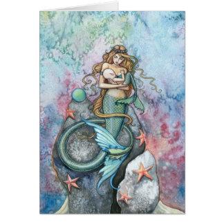 Sirena del amor y tarjeta de felicitación eternas