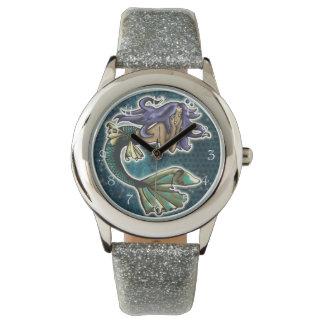 Sirena del ensueño relojes de pulsera