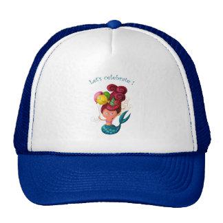 Sirena del feliz cumpleaños gorras