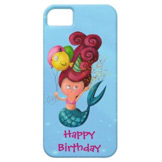 Sirena del feliz cumpleaños iPhone 5 carcasas